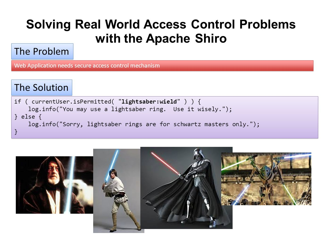 Solving Real World Access Control Problems with the Apache Shiro