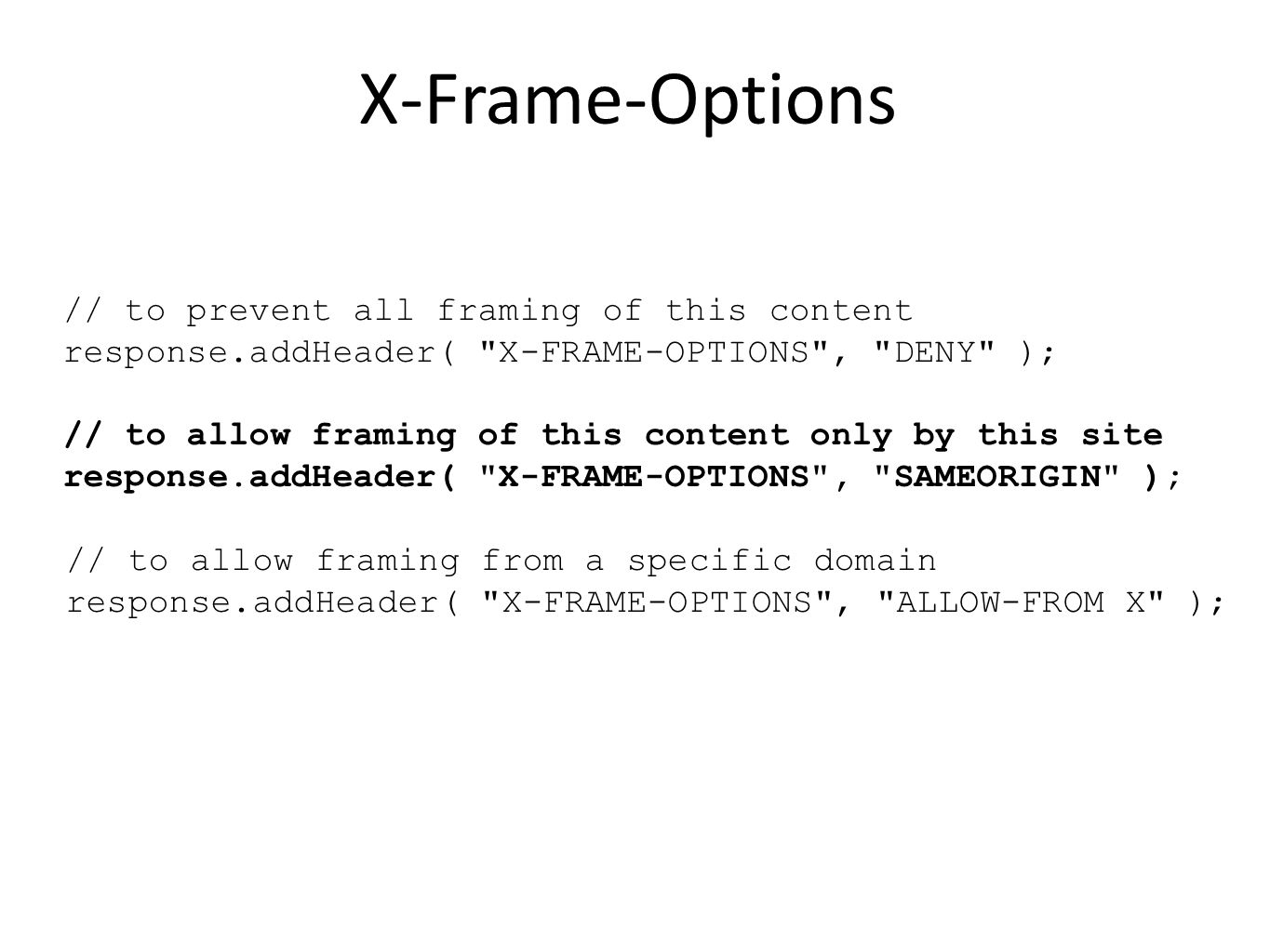 X-Frame-Options