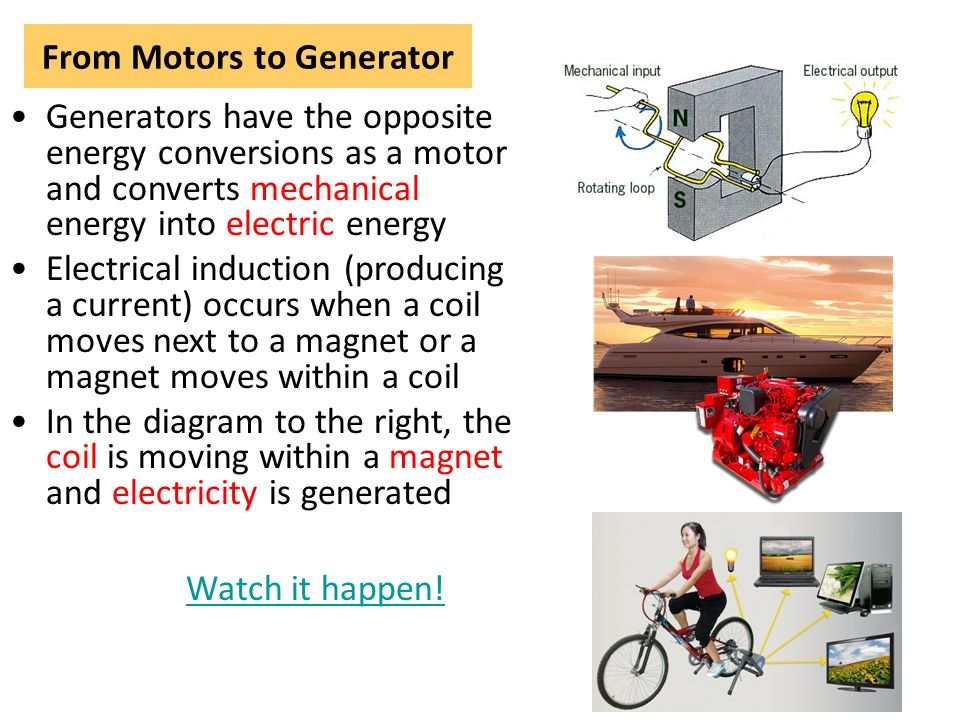 Electrical Mechanical Energy : Topic motors and generators ppt video online download