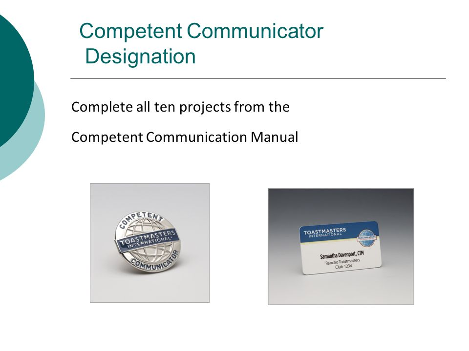Competent Communicator Designation