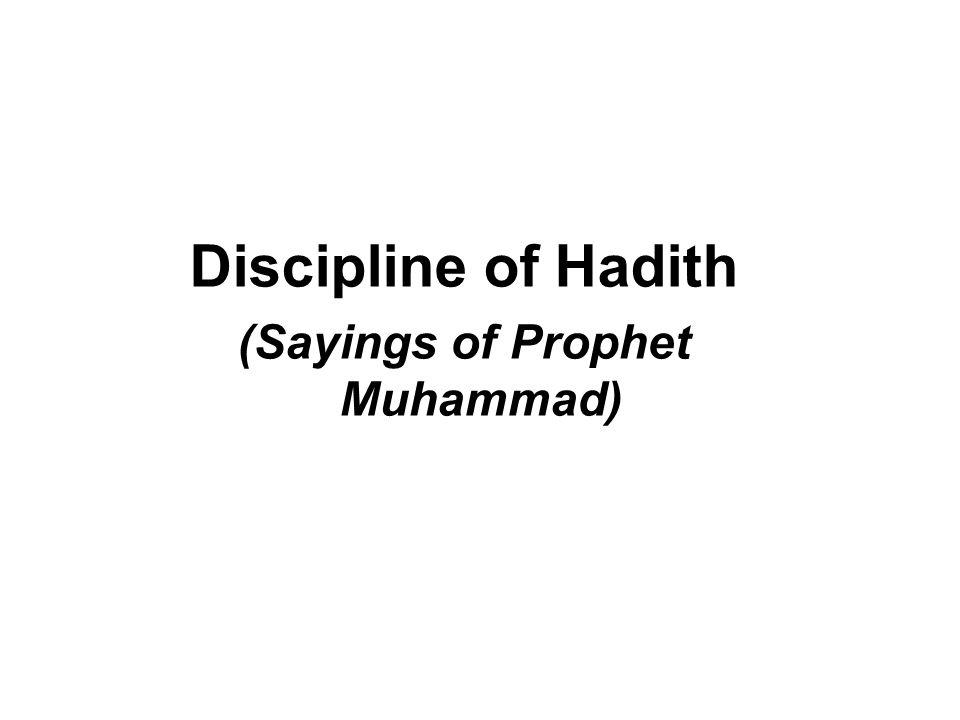 (Sayings of Prophet Muhammad)
