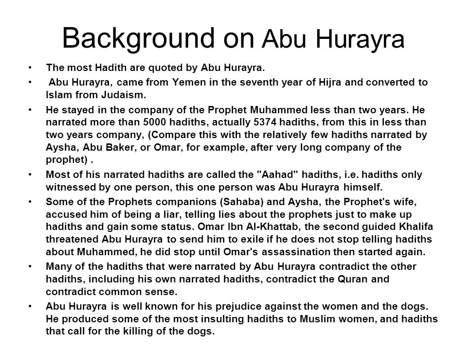 Background on Abu Hurayra