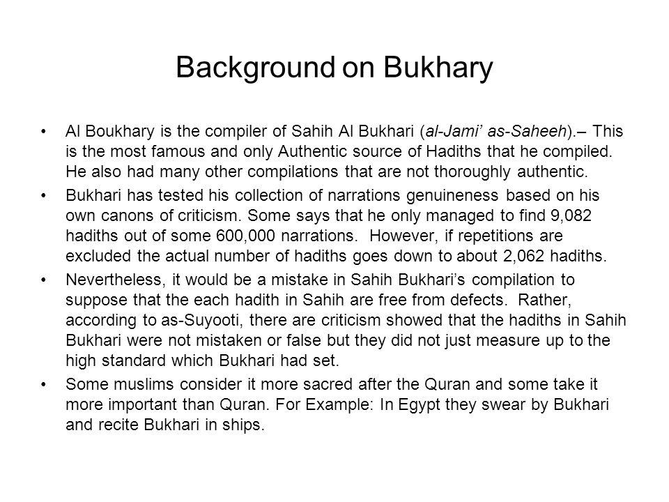 Background on Bukhary
