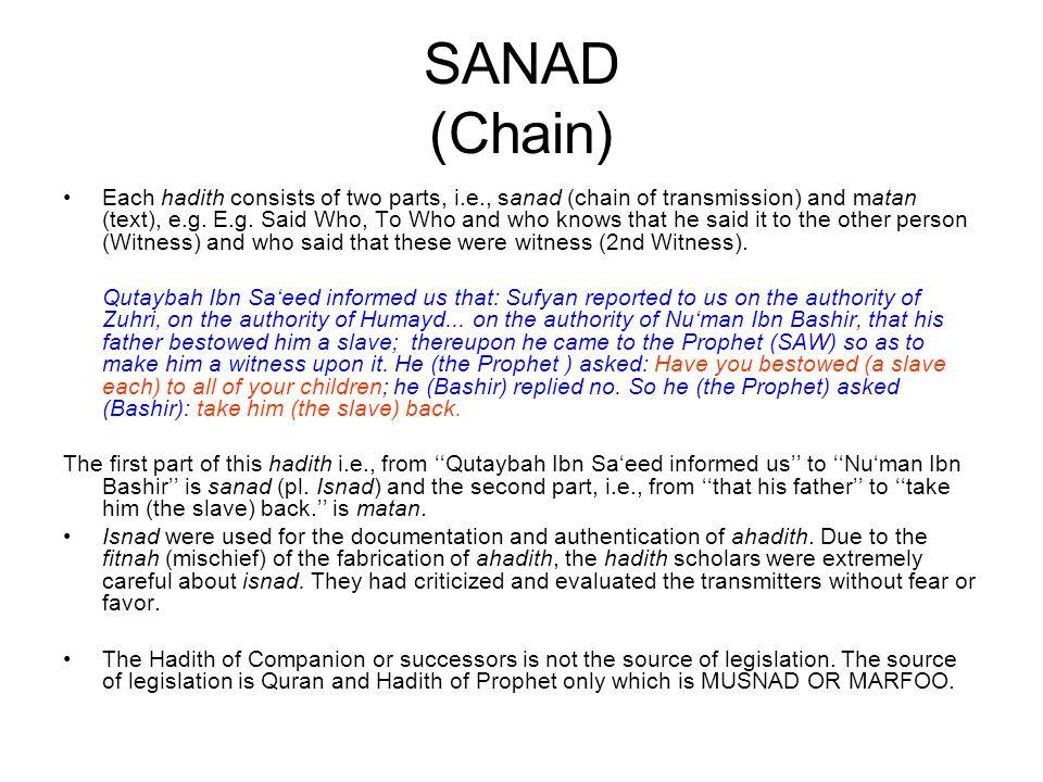 SANAD (Chain)