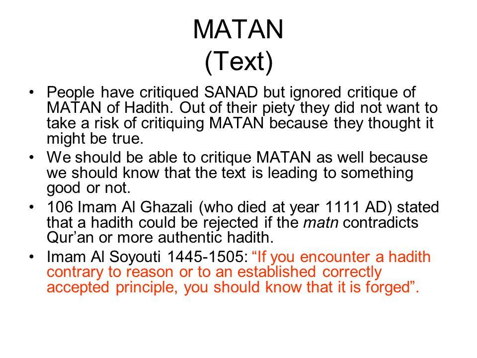 MATAN (Text)