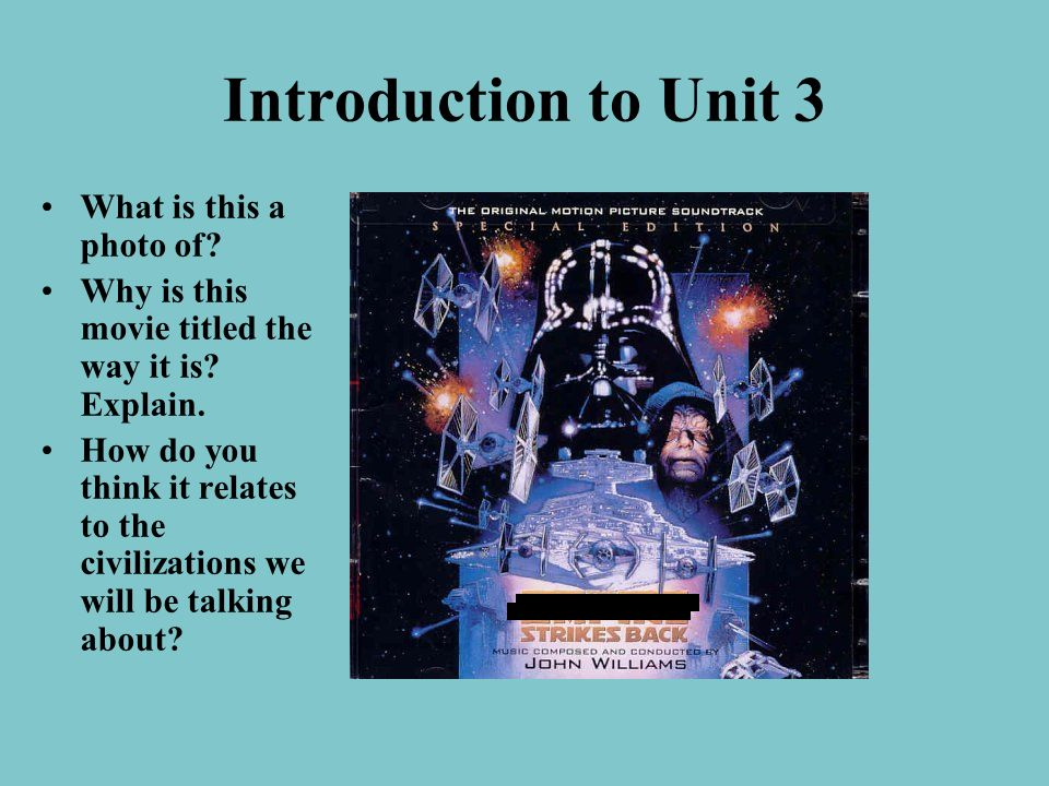 Introduction to Unit 3 What is this a photo of