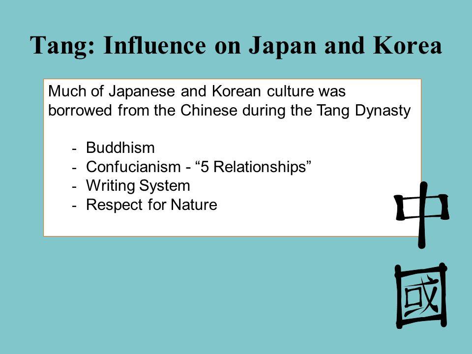 Tang: Influence on Japan and Korea