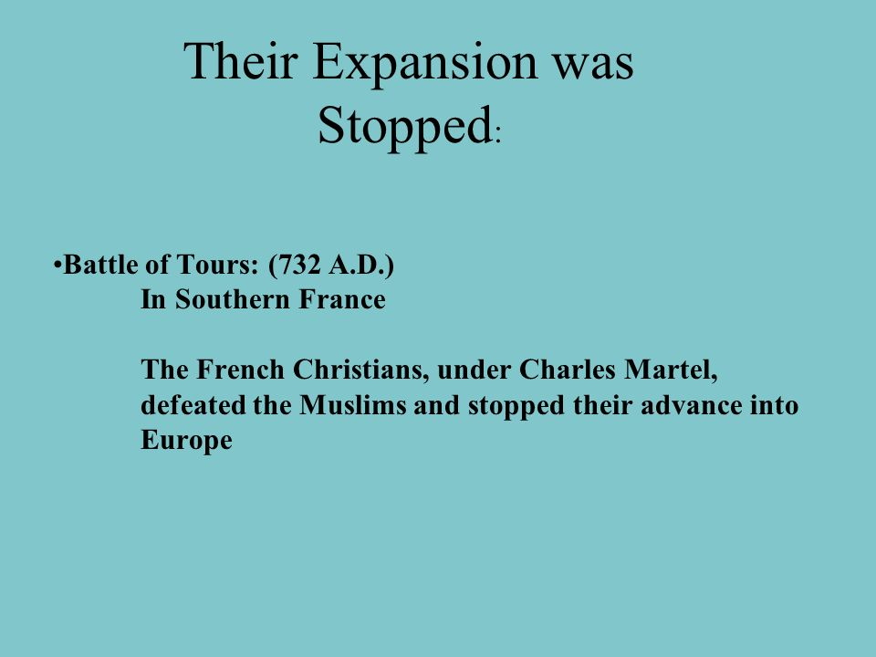 Their Expansion was Stopped: