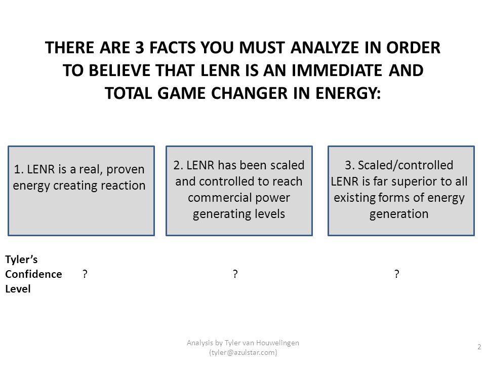 1. LENR is a real, proven energy creating reaction