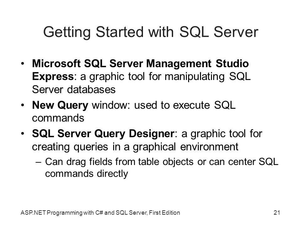 Getting Started with SQL Server