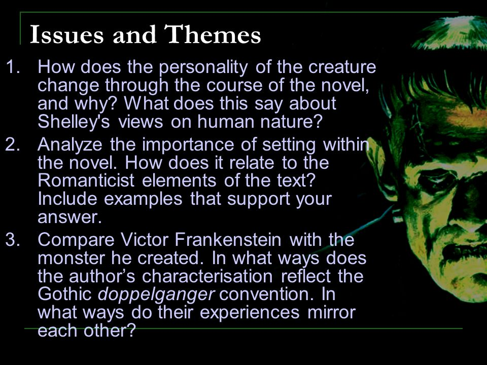 the importance of setting in frankenstein a novel by mary shelley The importance of setting in frankenstein, a novel by mary shelley pages 1 words 435 view full essay more essays like.