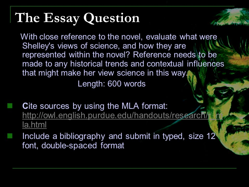 Essay Questions For Frankenstein