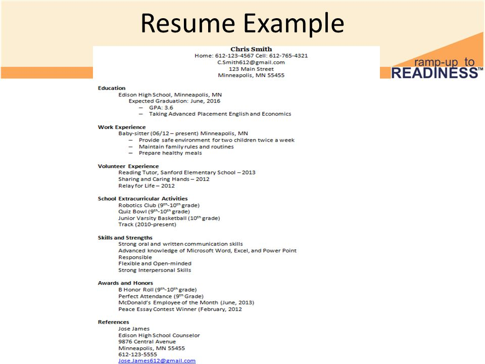 building a resume resume sections th grade advisory activity  11 resume example