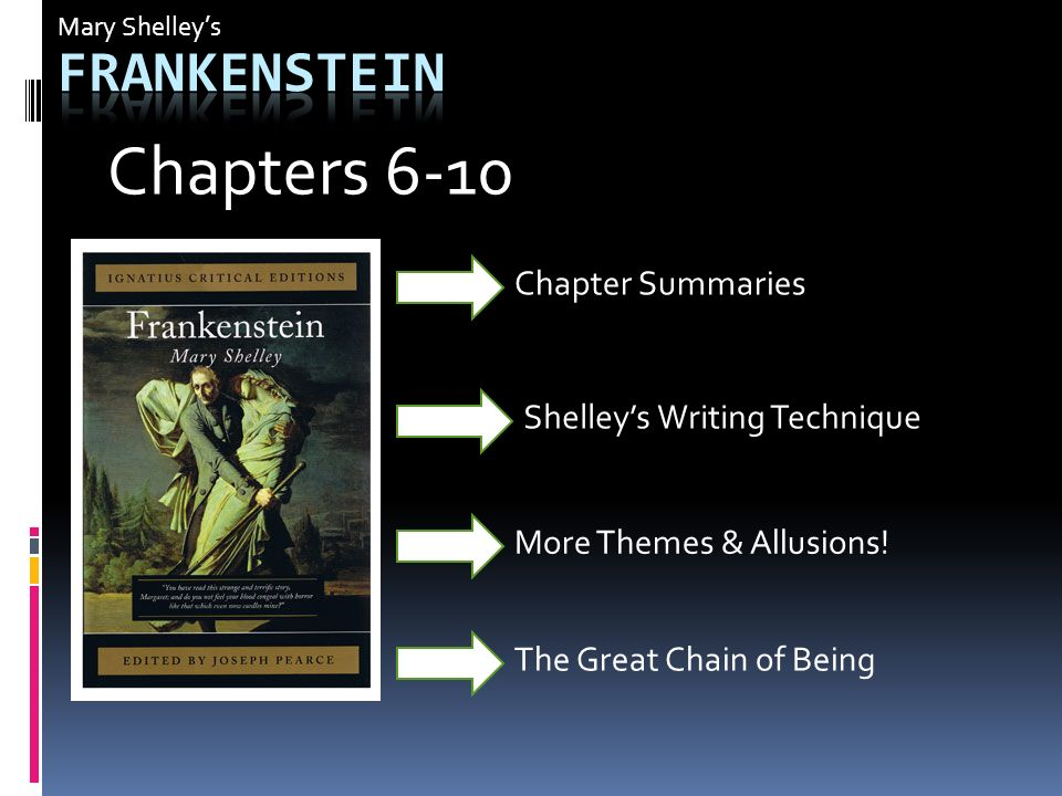 an analysis of the writing and plot of frankenstein a novel by mary shelley