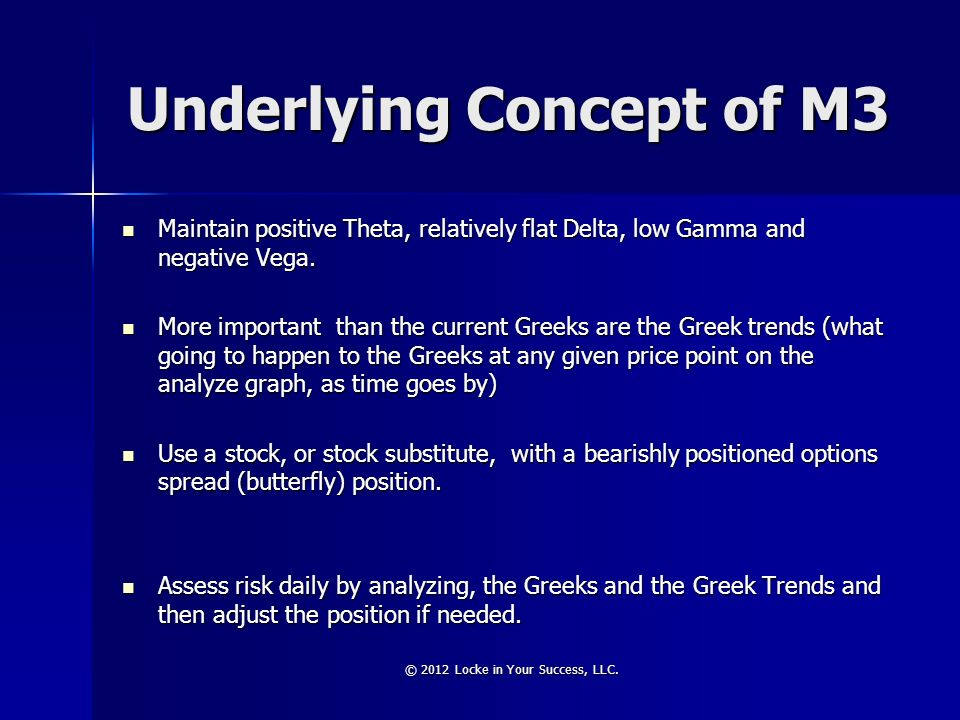 Underlying Concept of M3