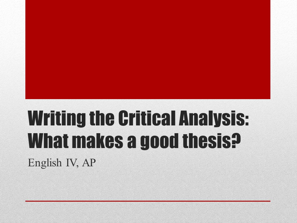 what makes a good thesis conclusion
