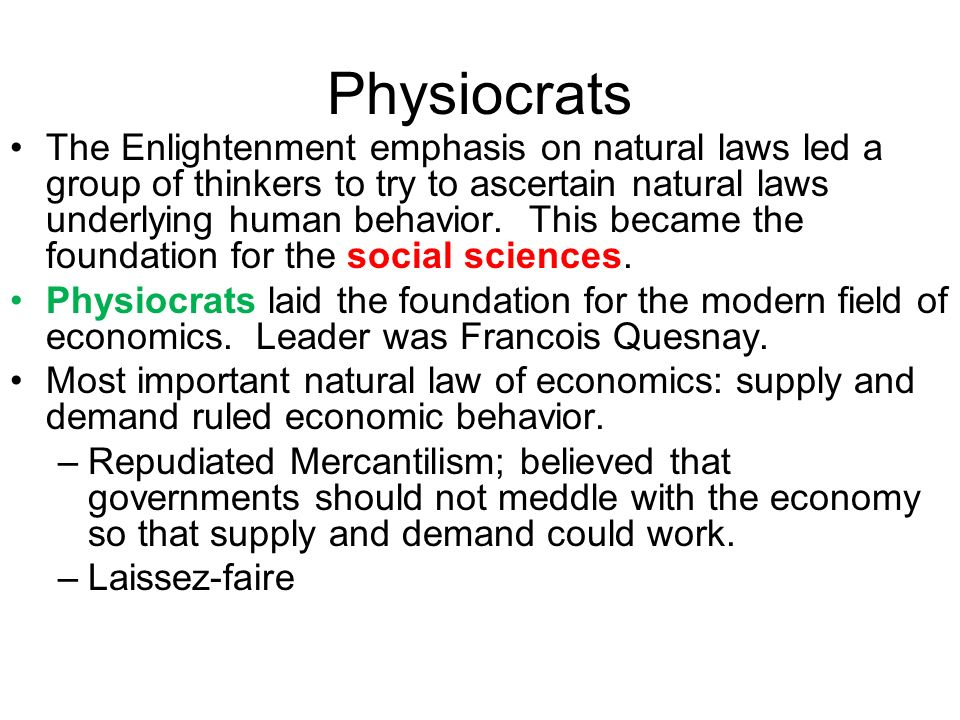 physiocracy mercantilism Read mercantilism, physiocracy and population theory, the south african journal of economics on deepdyve, the largest online rental service for scholarly research with thousands of academic publications available at your fingertips.