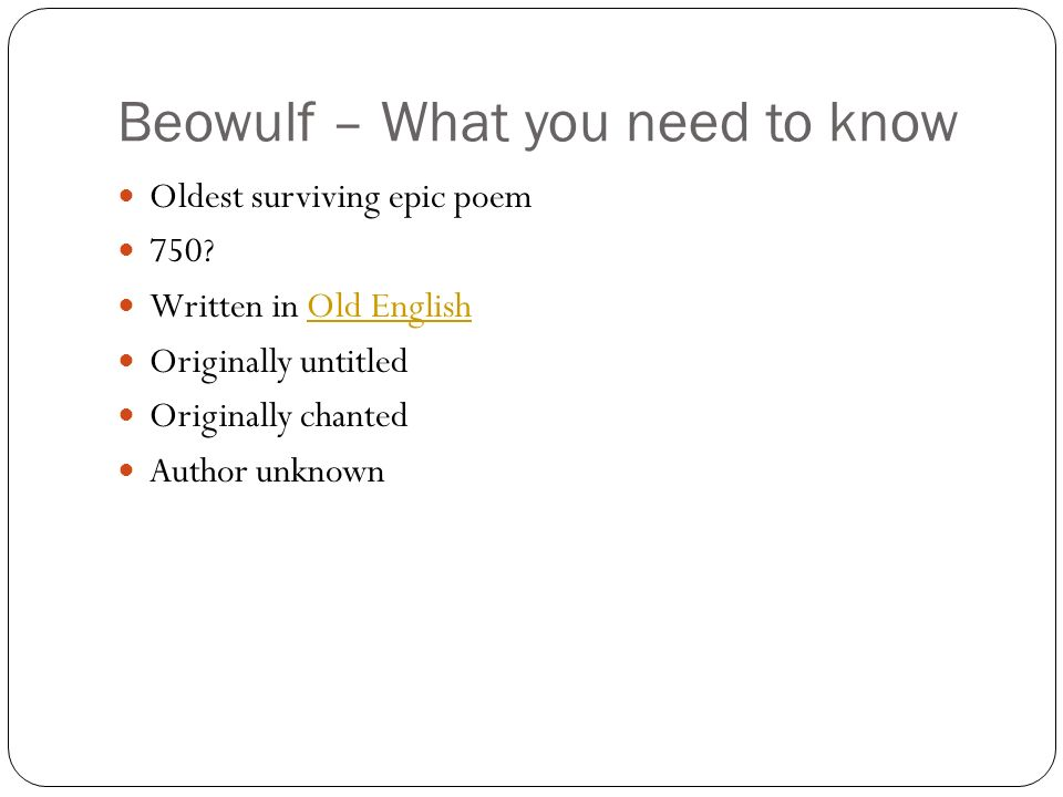an analysis of hrothgars inspirational speech to beowulf Analysis restricts its theoretical framework to basically two essays by mikhail m   of the epic hero beowulf and the novelistic world of grendel to achieve   between the two voices, the sinister voice represented by grendel and the   hrothgar's retainer unferth, who is obviously jealous, recognises the heroic  nature in.