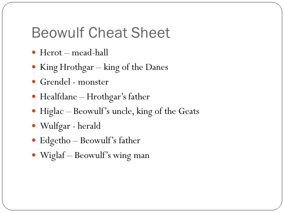 King Hrothgar in Beowulf: Hrothgar's Speech to Beowulf in Hall of Heorot