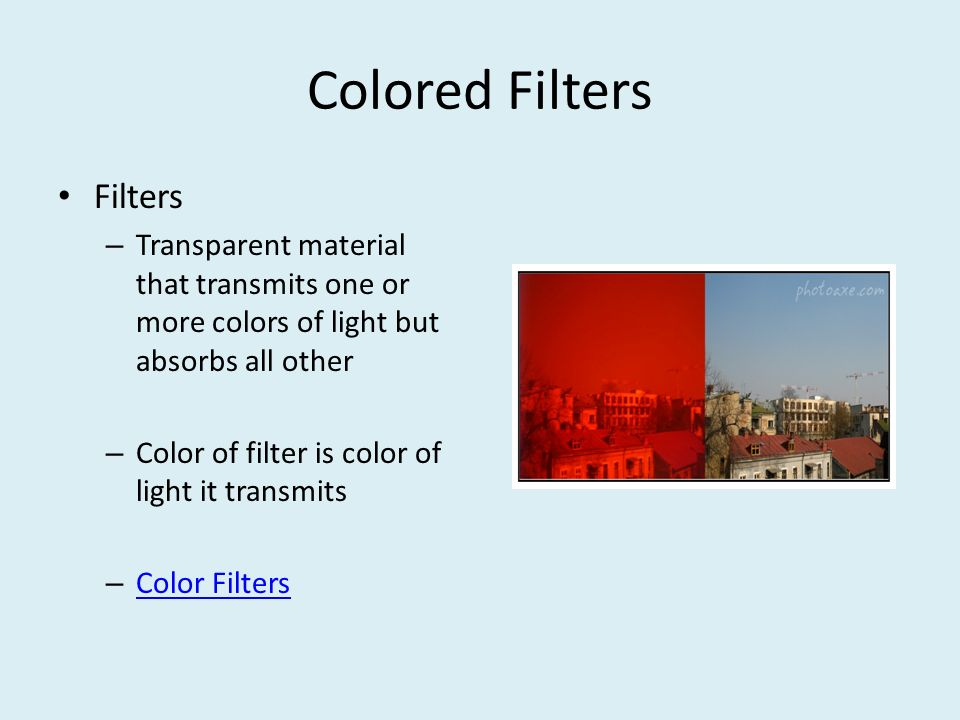Colored Filters Filters