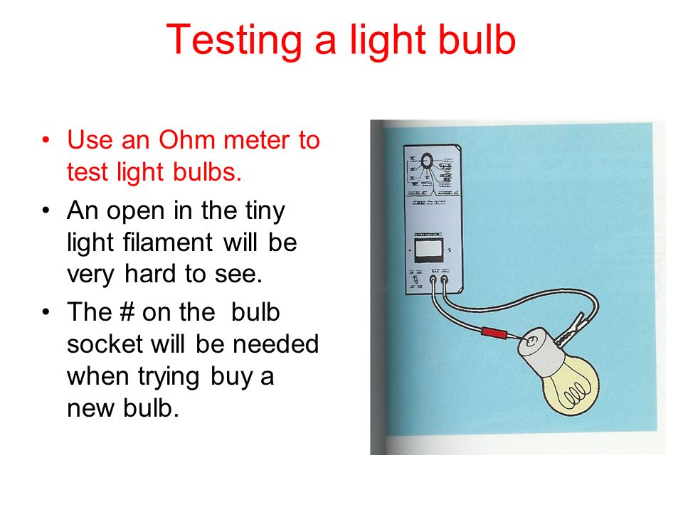 Using An Ohmmeter : Lighting and wiring services ppt video online download