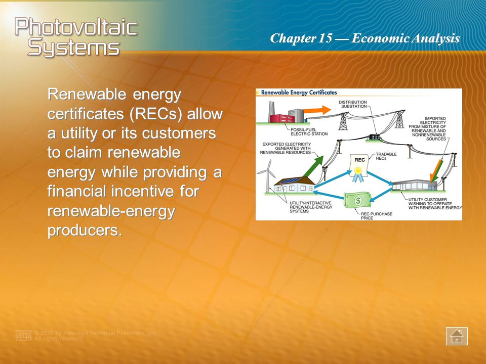 Renewable energy certificates (RECs) allow a utility or its customers to claim renewable energy while providing a financial incentive for renewable-energy producers.