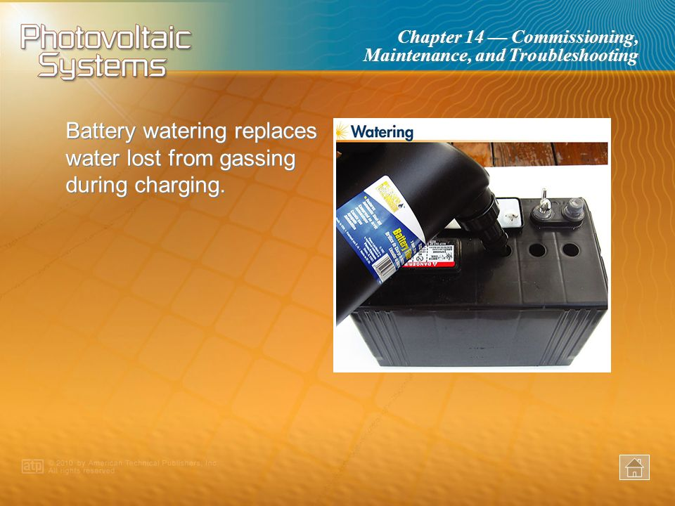 Battery watering replaces water lost from gassing during charging.
