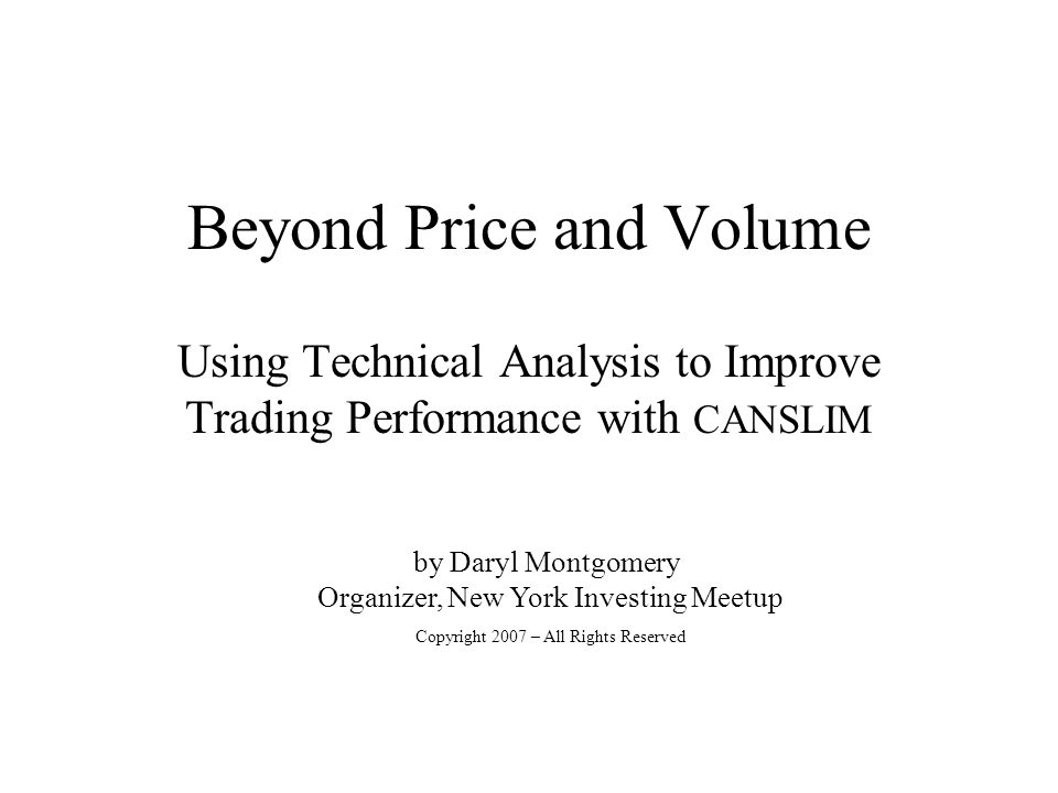 Beyond Price and Volume