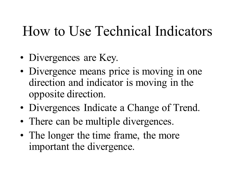 How to Use Technical Indicators