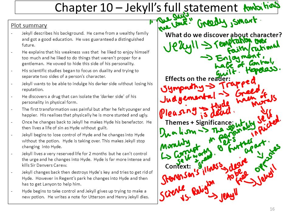 an analysis of the transformation of dr henry jekyll A brief analysis of one     at what point his transformation becomes.