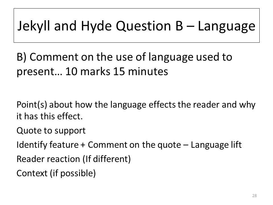 how is language used to present