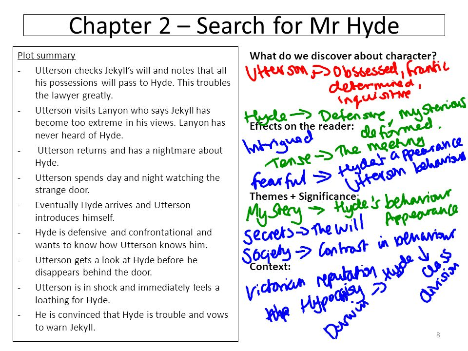 a summary and analysis of the story of dr jekyll and mr hyde Summaries based on the story by robert louis stevenson, dr henry jekyll believes that there are two distinct sides to men - a good and an evil side.