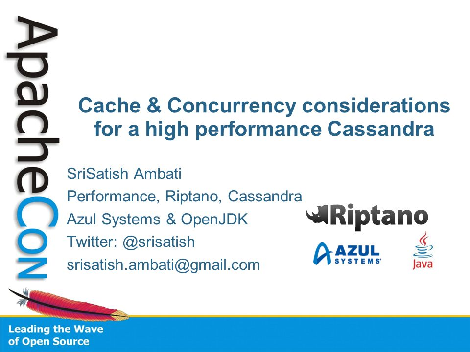 Cache & Concurrency considerations for a high performance Cassandra