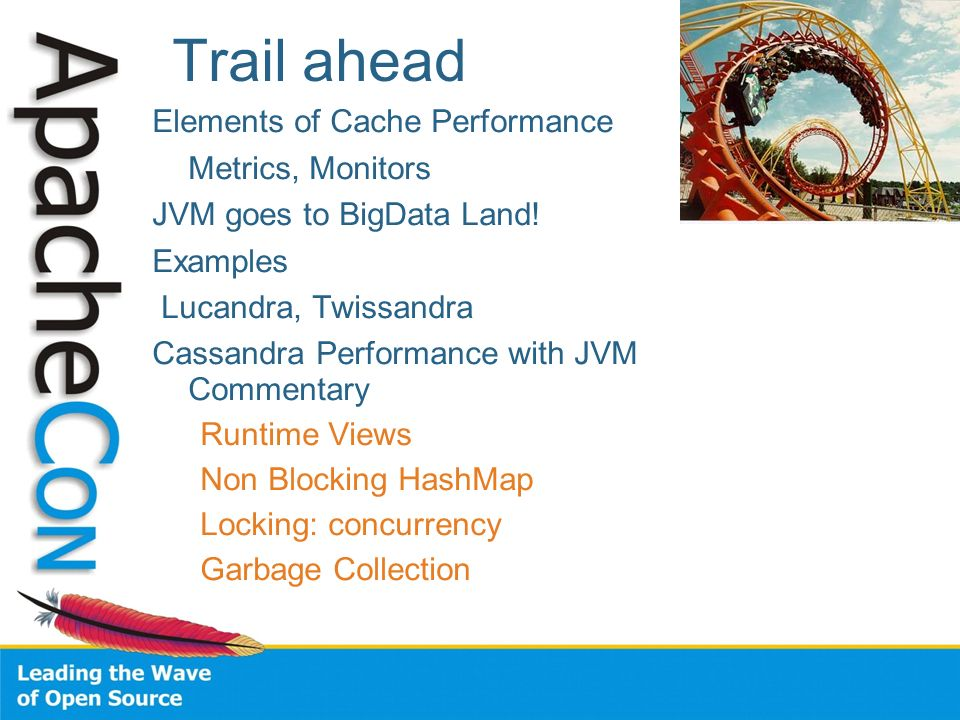 Trail ahead Elements of Cache Performance Metrics, Monitors