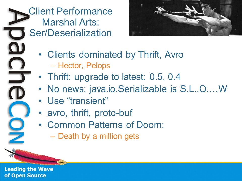 Client Performance Marshal Arts: Ser/Deserialization