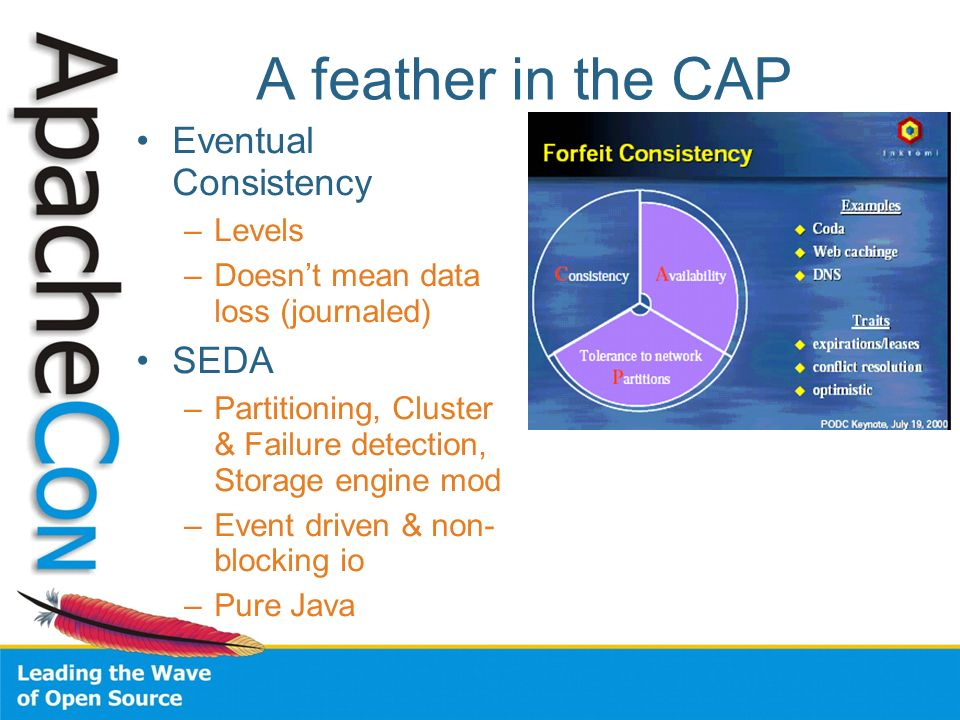 A feather in the CAP Eventual Consistency SEDA Levels