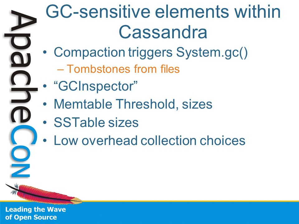 GC-sensitive elements within Cassandra