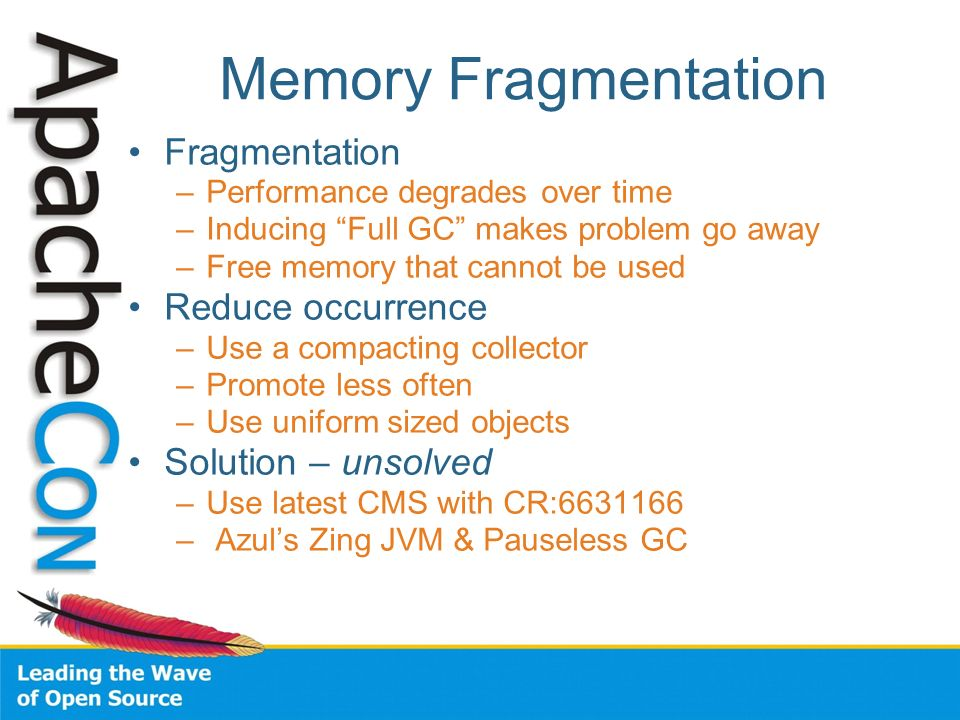 Memory Fragmentation Fragmentation Reduce occurrence
