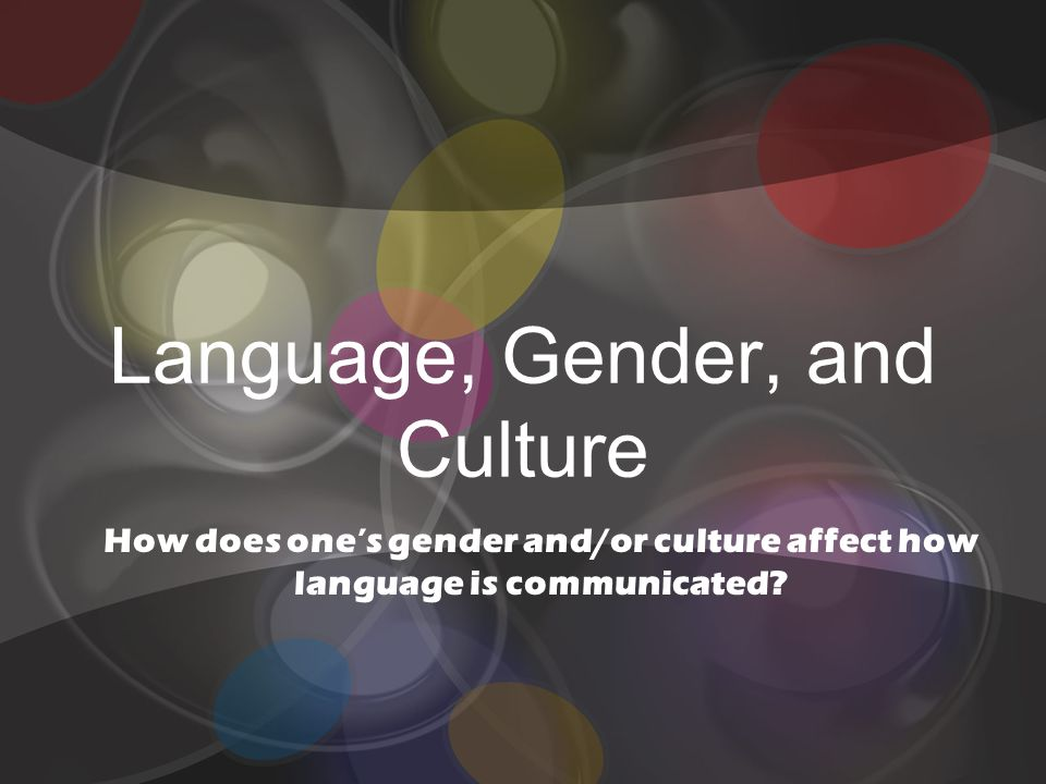 essays on gender and language