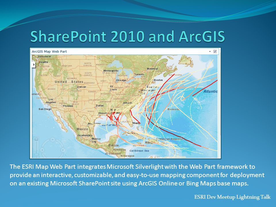 SharePoint 2010 and ArcGIS 3/27/2017