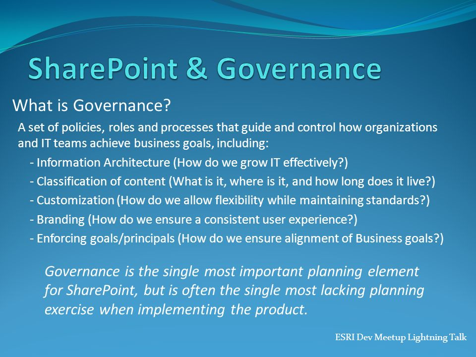 SharePoint & Governance