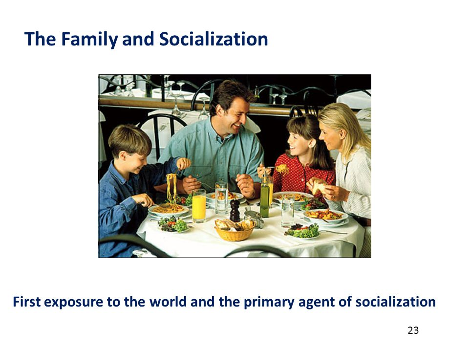 family socialization Family definition is - the basic unit in society traditionally consisting of two parents rearing their children also : any of various social units differing from but regarded as equivalent to the traditional family.