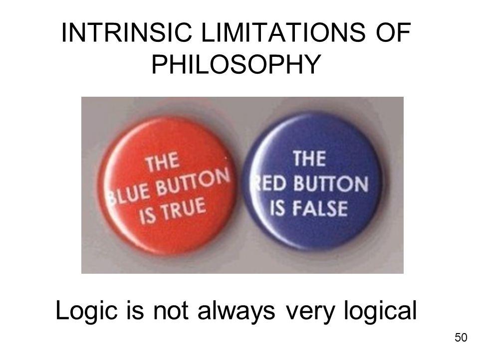 INTRINSIC LIMITATIONS OF PHILOSOPHY