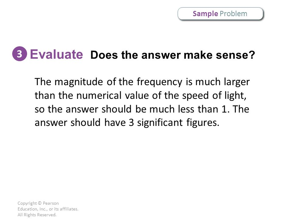 Evaluate Does the answer make sense