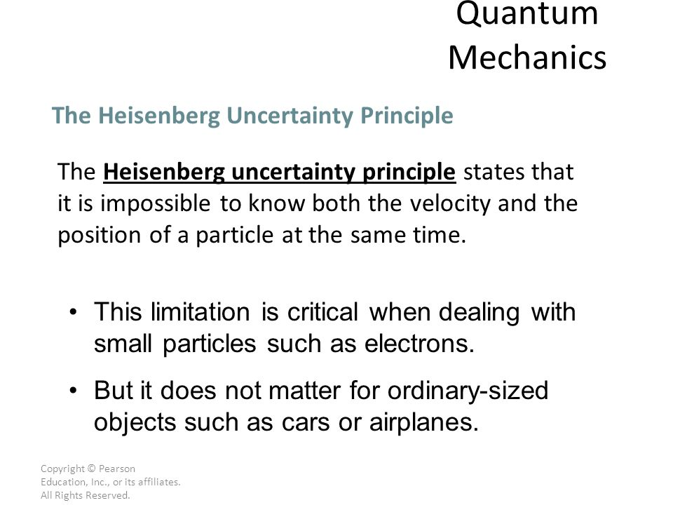 Quantum Mechanics The Heisenberg Uncertainty Principle
