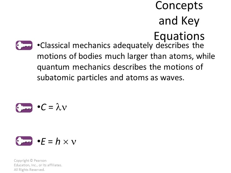 Key Concepts and Key Equations