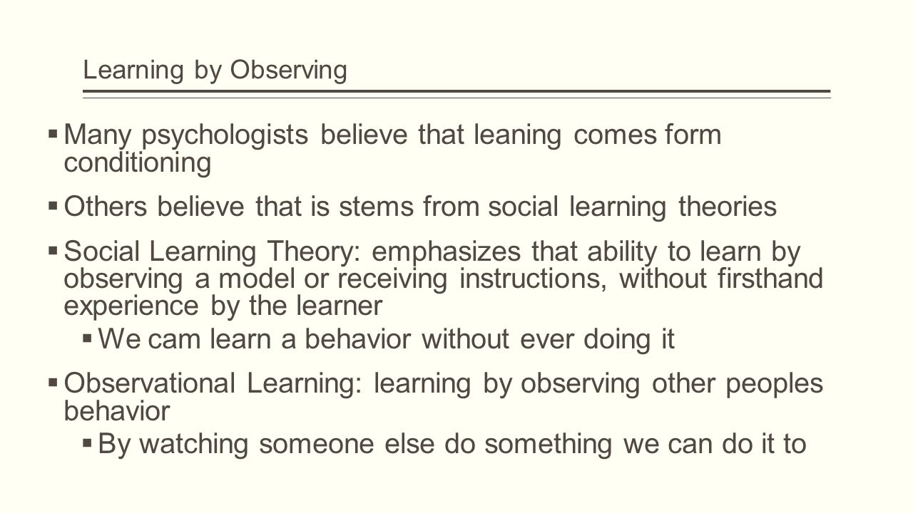 vicarious learning
