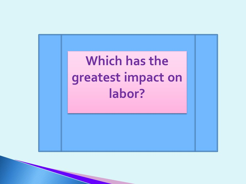 Which has the greatest impact on labor