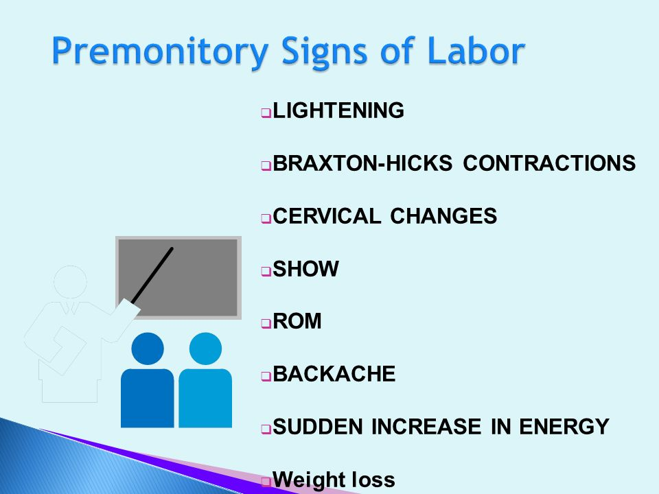 Premonitory Signs of Labor