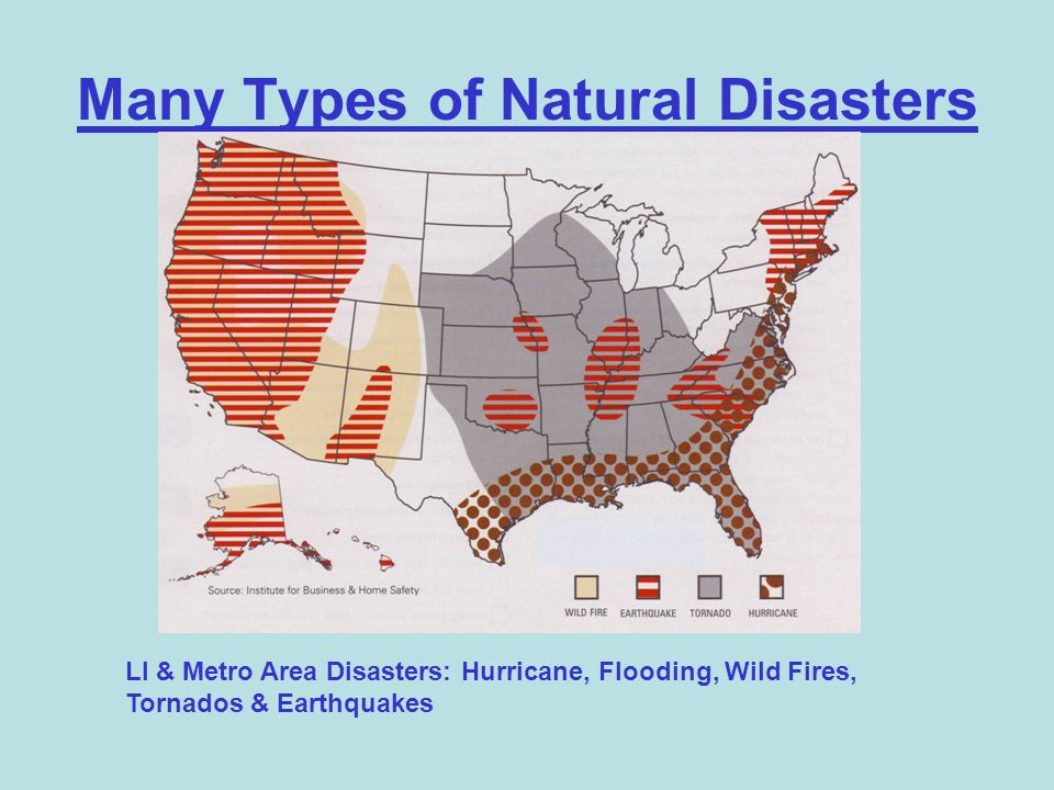 Many Types of Natural Disasters